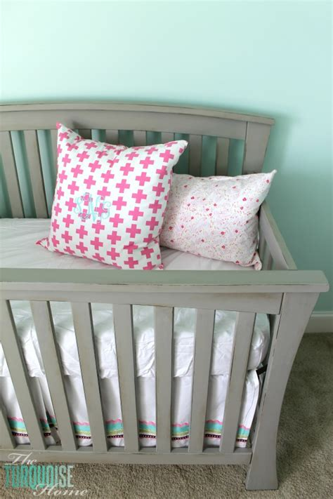 beautiful gray crib makeover with sloan chalk paint