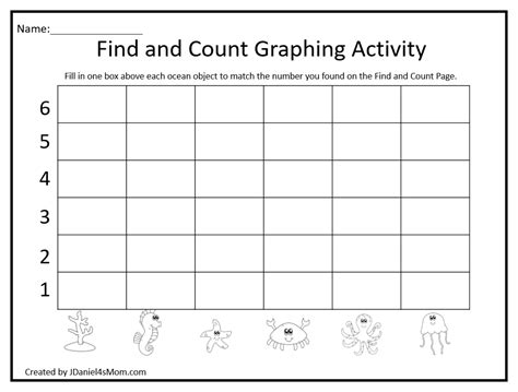 create free printable bar graphs find count and create a bar graph with ocean objects