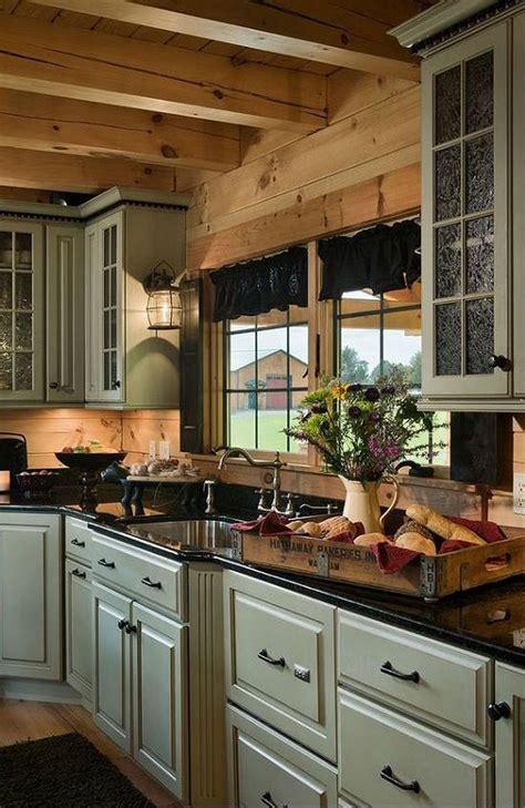 log cabin kitchens ideas  pinterest log home