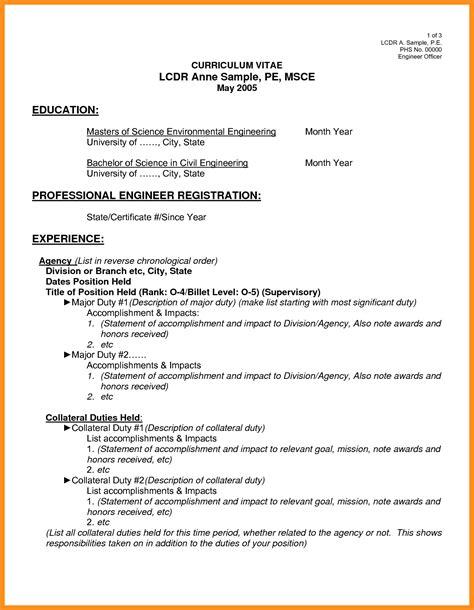 6 cv exle pdf fillin resume