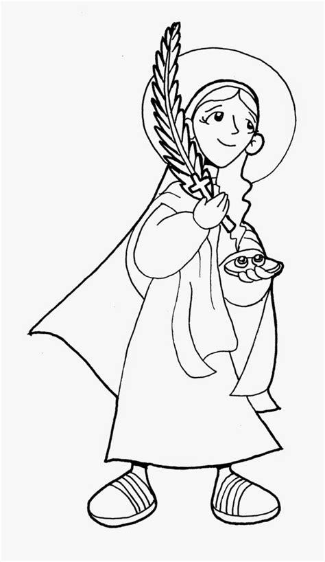 coloring pages santa lucia saints coloring pages printable catholic saints