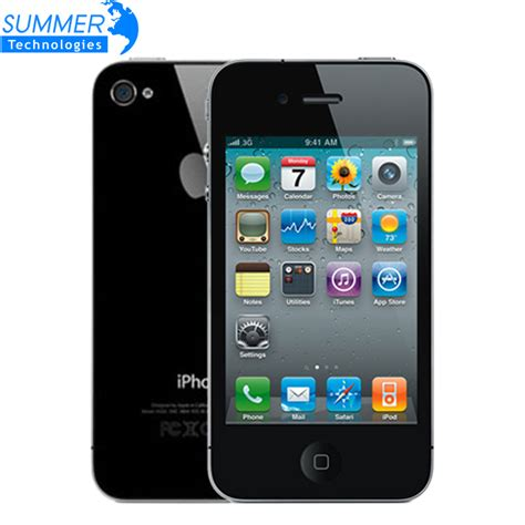 Hp Iphone 5 Inch Original Unlocked Apple Iphone 4 Cell Phones Ios Gps Wifi 3 5 Inch Ips Screen 8gb 16gb 32g Used