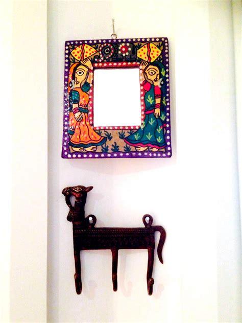 hand painted wall design paint pinterest powder janakpuri hand painted mirror frame 163 8 99 biya