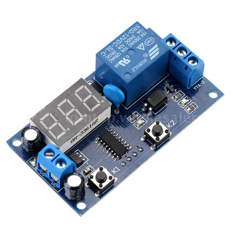 Digital Timer Ac Dc 12v 1 multifunction led delay time module switch relay