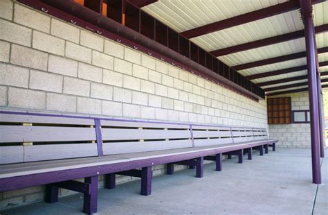 baseball dugout benches sports benches aalco
