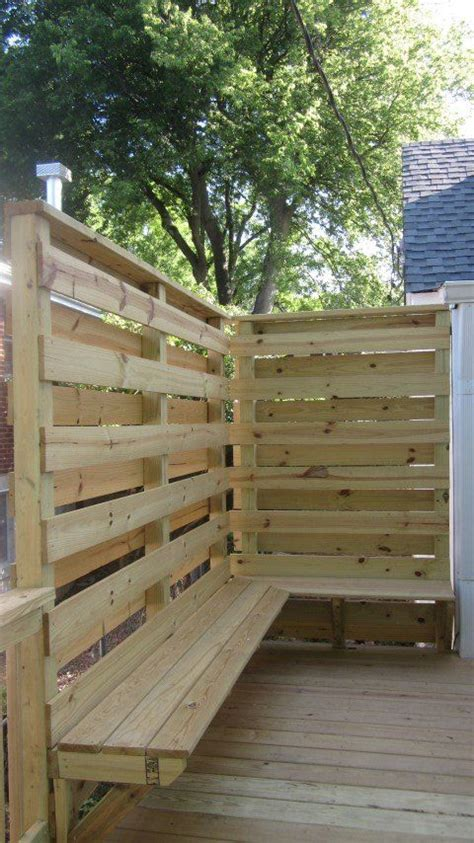 Patio Walls For Privacy by Deck With Privacy Wall Seating By Stratton Exteriors