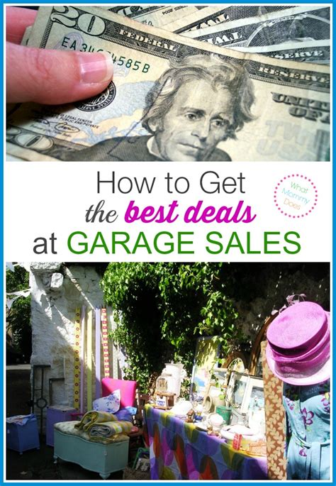 How To Get A Garage How To Get The Best Deals At Garage Sales Yard Sale