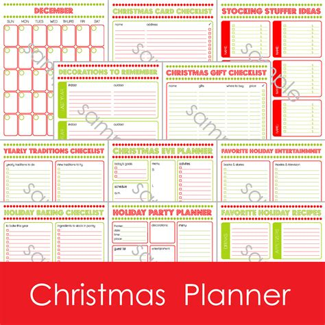 printable christmas planning checklist 12 page printable christmas holiday daily by