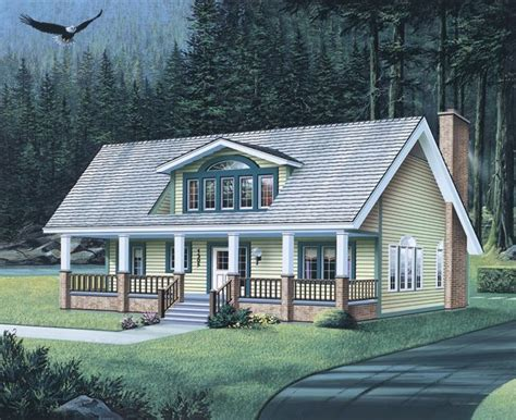 understand country house plans with big front porches