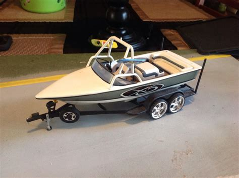 wakeboard boat on trailer 1 18 or 1 24 scale plastic mastercraft wakeboard boat and
