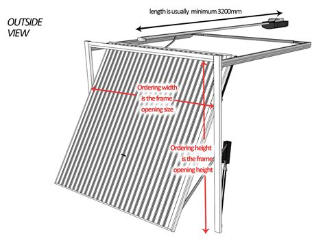 Retractable Garage Door Mechanism Up And Garage Door Measurement Guide Canopy Retractable Up And Doors Garage Door