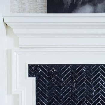 Black And White Fireplace Tiles by Key Chairs Eclectic Living Room Eddie Ross