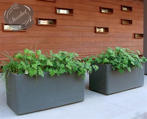 Outdoor Rectangular Planters Large by Modern Interior Design Large Rectangular Designer