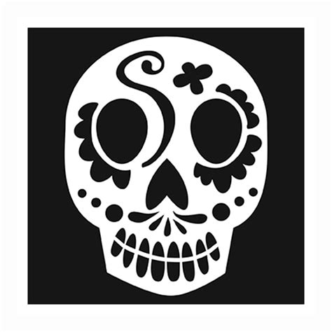 skull stencil template best photos of sugar skull template simple sugar skull