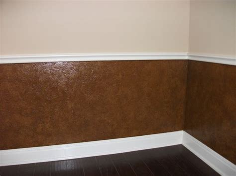 Faux Wainscoting With Paint by Faux Leather Wainscotting But I D Do Lighter Warmer