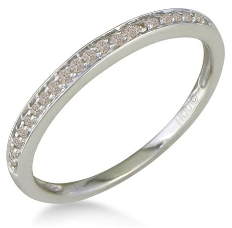 white and gold l ct micro pave womens wedding band ring in karat