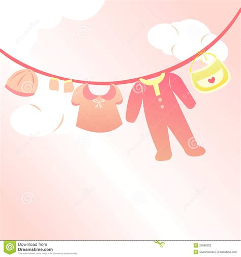 Infant Shower Cap by Baby Clothing Card Stock Vector Image Of Gift