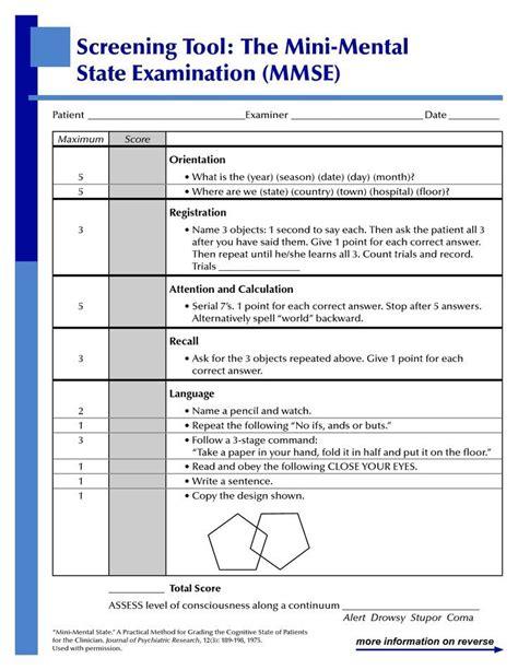 examination report sle mini mental state examination mmse score 0 30 score of