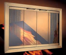 fireplace doors portland willamette trimfyre stock glass
