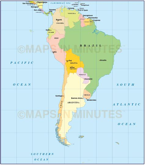 map of usa and south america digital vector south american countries map in illustrator