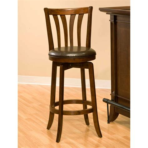 30 Wood Bar Stools by Savana 30 Quot Swivel Wood Bar Stool Cherry Brown Seat