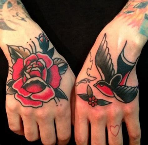 rose and sparrow tattoo and sparrow tattoos by nick oaks