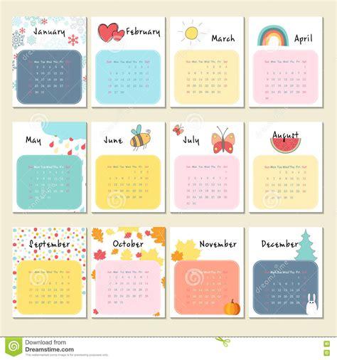 Calendrier Kinder 2017 2017 Calendar Free Excel Templates