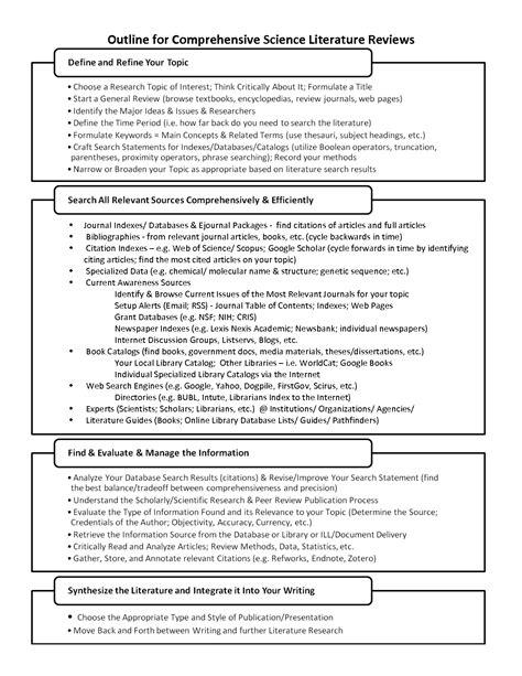 College Literature Review Exle by Literature Review Scientific