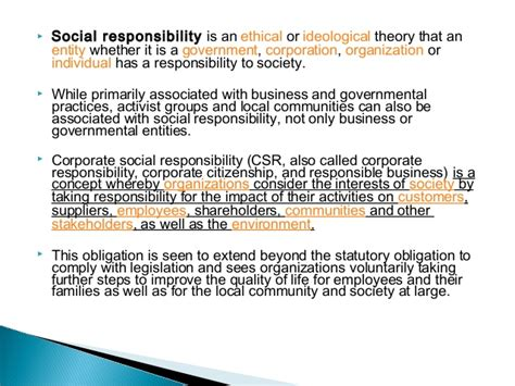 Corporate Social Responsibility Mba Notes Pdf by Social Responsibility Of Business