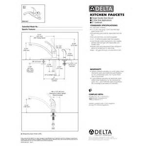 delta faucet b3310lf foundations polished chrome one