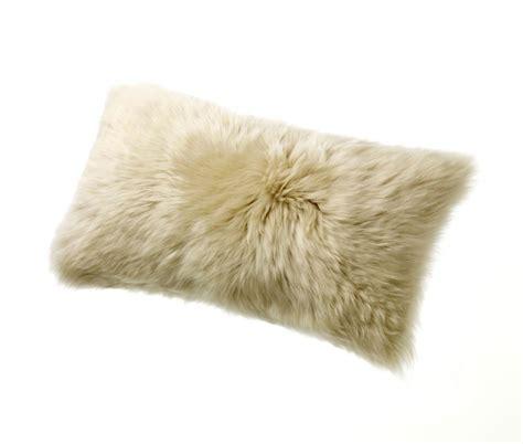 Sheepskin Throw Pillow by Sheepskin Pillows 11 X 22 Fur Cushions Linen