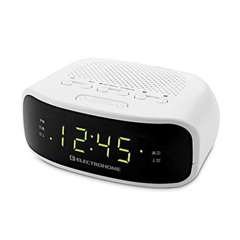 electrohome digital am fm clock radio with battery backup dual alarm sleep snooze functions