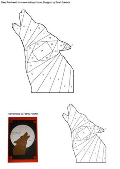 bifold card template deviantart howling wolf iris folding pattern cup261354 172