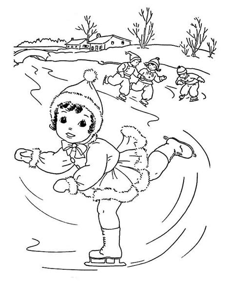 kawaii winter coloring book a winter coloring book for adults and kawaii characters chibi winter and activities books skating on winter coloring