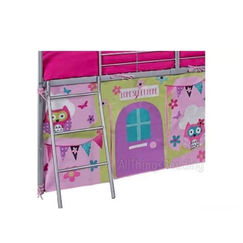 Pink Mid Sleeper Bed by Pink Owl Bed Tent For Single Mid Sleeper Cabin Bed Bunk