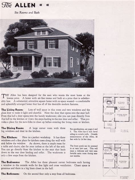gordon van tine house plans 1935 gordon van tine homes classic four square style the allen