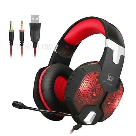 Headphone Gaming Kotion Each G1000 7 Led Color Original kotion each g1000 professional 3 5mm pc gaming stereo headset headphone with mic led light
