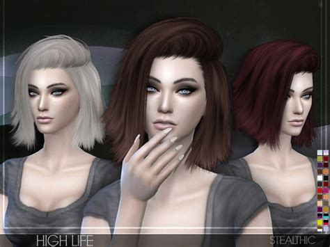 sims 4 hair high life female hair by stealthic at tsr 187 sims 4 updates