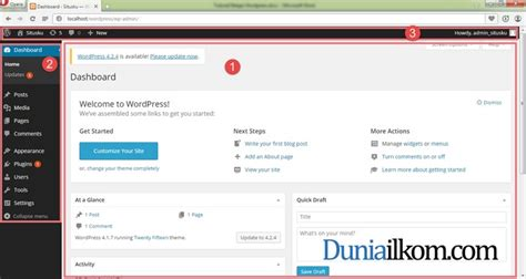 tutorial admin wordpress cara login ke halaman admin wordpress duniailkom