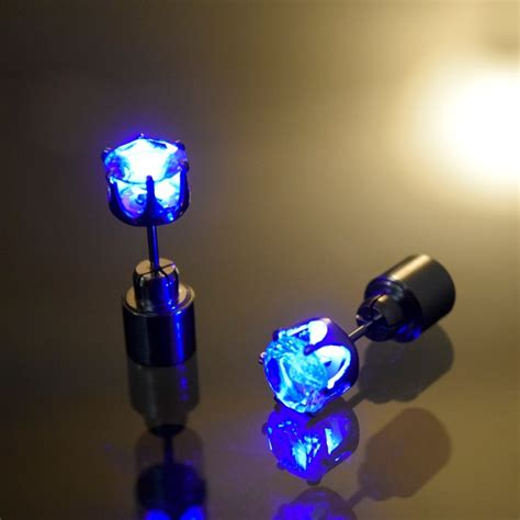 lit up light up led earrings eternity led