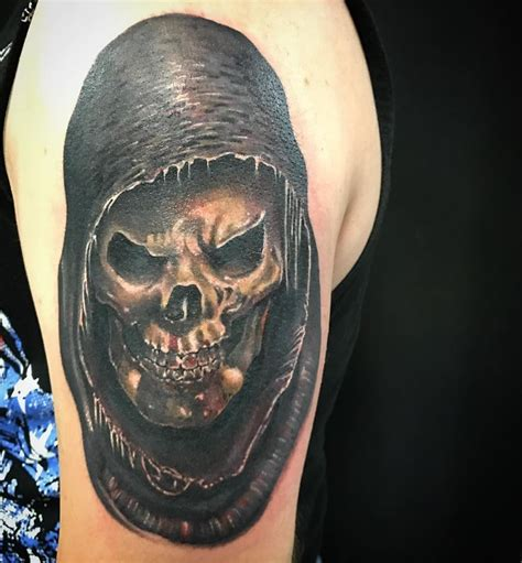tattoo ideas shoulder piece shoulder piece for my client colorful skull grim ripper