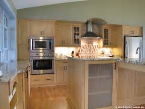 Kitchen With Light Oak Cabinets by Kitchen With Stainless Steel Appliances And Light Wood