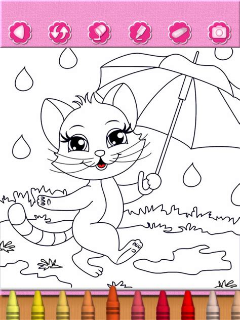 coloring apps for toddler coloring pages cat kitten coloring book