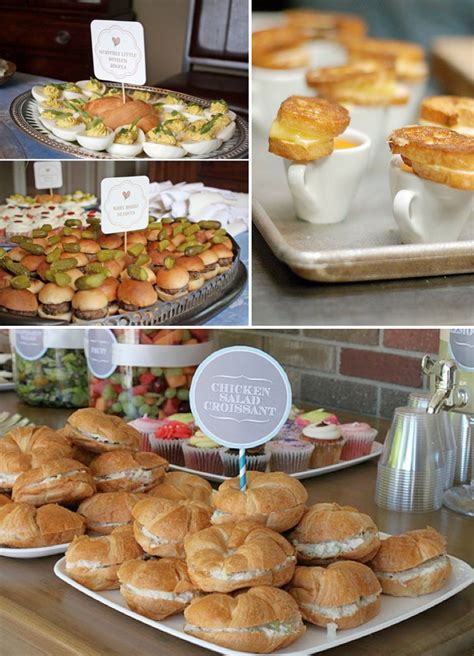 bridal shower finger foods easy wedding buffet menu ideas