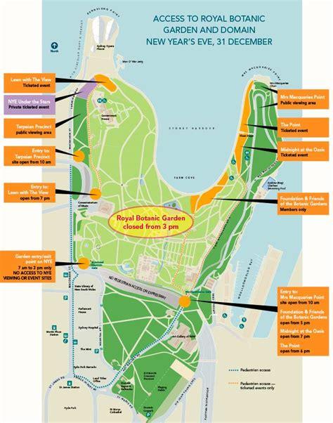 Royal Botanic Gardens Map Artphototravel 187 Sydney New Years Fireworks