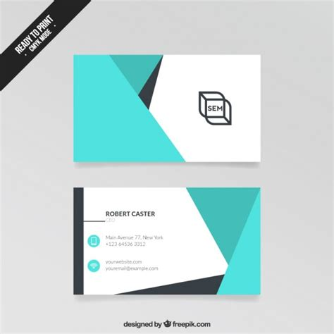 card visit template abstract visit card vector free