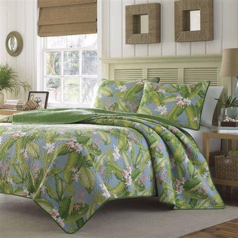 shams bedding king size tropical coastal quilt set vibrant blue green