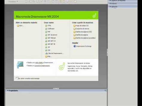 tutorial dreamweaver pagina web tutorial crear un sitio web adobe dreamweaver 2 20