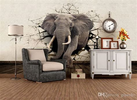 elephant wall mural custom 3d elephant wall mural personalized photo