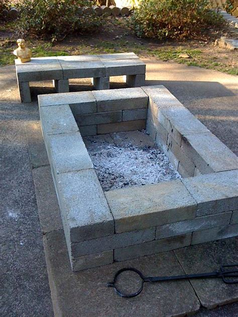 firepit blocks 75 diy pit and loving the concrete benches in the